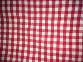 Red gingham curtains from The Little White Company.