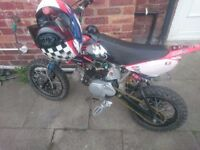 125cc pit bike runs good 280 ono