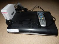 Fully working Sky +HD box with two controllers and internet box