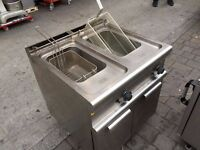 GAS TWIN FRYER CATERING COMMERCIAL CAFE RESTAURANT KEBAB CHICKEN TAKE AWAY KITCHEN BAR SHOP