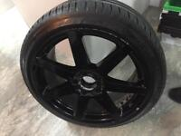 """Mercedes C class AMG 18"""" alloys with Michelin pilot sport tyres x4"""