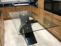 Glass dining table (ex Barker & Stonehouse)