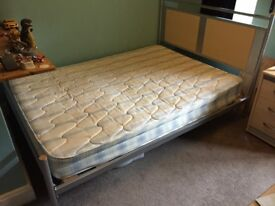 Metal Frame double bed with matress