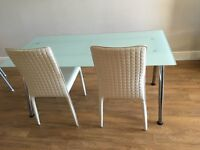 IKEA DINING TABLE WITH 2 CHAIRS - CAN ALSO BE USED AS AN OFFICE TABLE