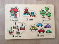 9 Wooden Puzzles for toddlers and babies. Excellent Condition