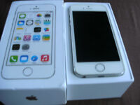 iphone 5s superb condition hardly used with box and charger phones