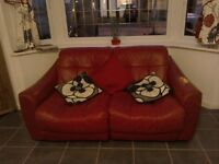2seater leather sofa