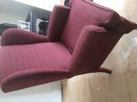 Sherlock style armchair recently refurbished.