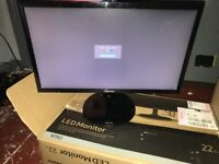 Samsung 22inch LED Tv HD Monitor - Brand new with box