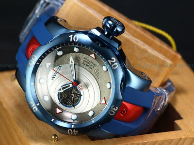 NEW Invicta LE Marvel Capt America Steve Roger's Venom Automatic Red Blue Watch