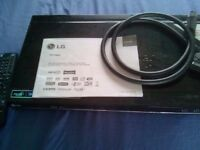 LG freeview Dvd recorder Digital play and record plus scart lead and manual