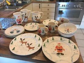 Hand made Christmas Pottery