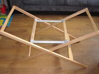 Mamas & Papas Deluxe Stand for Moses Basket - Natural Baby Bath stand Heavy duty RRP£45