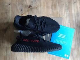 Yeezy Boost 350 v2 Black Red Bred UK 9