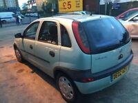 Vauxhall Corsa 1.2 L, 6 month MOT reg 02 only @£599