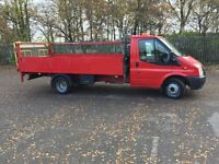 Transit tipper flat bed recovery
