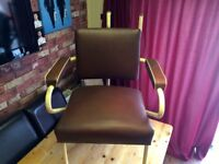 1950'S CHAIR TAKEN FROM OPTICIANS CLEARANCE