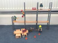 Playmobil scaffold tower and construction wor
