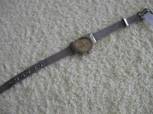 "CLASSY LADY'S ""UNIQUE"" WRIST WATCH with SILVERTONE STRAP"