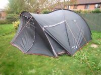 Gelert Cadiz 5 (4 Person Tent) in Dark Green & Grey Colour