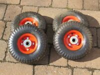 Wheels .Pneumatic tyred wheels suitable for trolley etc.