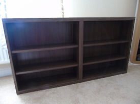 Pair of Ikea Book shelves brown very solid