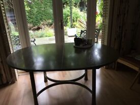 ERCOL SAVILLE TABLE - GREY WASH - COMPLIMENTS OTHER ERCOL FINISHES - SEATS 8-10 WHEN EXTENDED