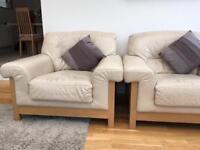 Italian Leather Sofa and Armchairs