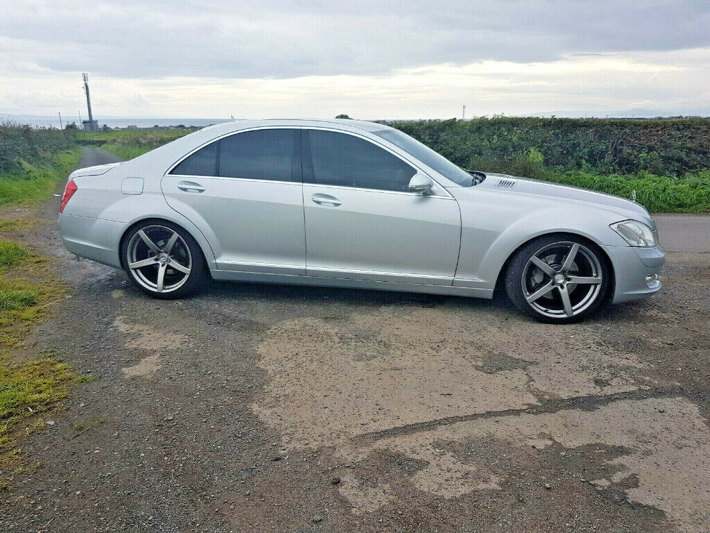 MERCEDES S-CLASS W221 LOWERED 20 INCH CONCAVE ALLOYS   MAY SWAP P/X ??WHY    in Glasgow City Centre, Glasgow   Gumtree