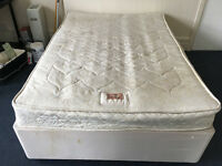 DOUBLE DIVAN BED WITH AIRSPRUNG MATTRESS