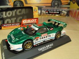 Brand New in Box. GSlot/Scalextric Honda NSX Takata.Works with Scalextric.