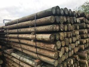 Poteau en bois traité ( Piquet pour clôture )