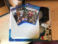 PS4 Slim 500GB Glacier White - 2 controllers - games not included - BOXED