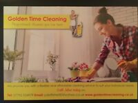 Golden Time Cleaning for all your cleaning, ironing and gardening needs, no job too big or small!