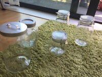 Jar with lid - Glass - Food storage - Kitchen organiser
