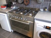 DFS903 DELONGHI DUEL FUEL COOKER FOR SPARES OR REPAIR