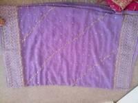 lilac saree