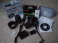 Pentax K-3 II DSLR with 18-55mm + 50-200mm lenses and O-FC1 WiFi SD card