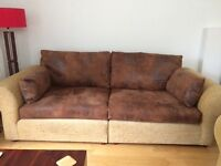 2 four seater sofas excellent condition, available immediately