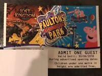 Paultons Park / Peppa Pig World 1 Ticket valid until 30/06/18