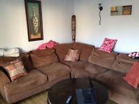 Big brown sectional couch