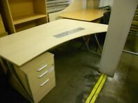 large office desk/table with under storage draws