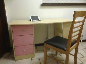 Beech Study Desk 1.2 x 4.9