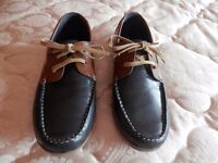 Navy and Tan Shoes Size 11