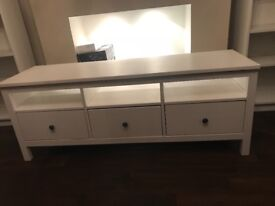 Ikea Hemnes TV drawers unit white - excellent condition