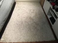 Ikea high pile rug ALHEDE - gray/white - 135cm x 198cm - excellent condition