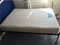 DOUBLE SILENTNIGHT MATTRESS - MIRACOIL BARLEY - AS NEW CONDITION - TO BE COLLECTED ASAP
