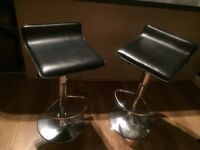Two breakfast bar stools for sale. Good condition.