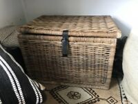 Large wicker storage chest, in great condition. Great for storage indoors