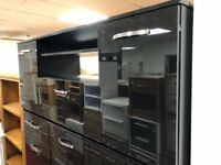 3 door black gloss TV unit